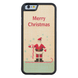 Santa, Candy Cane and Stars Christmas Maple iPhone 6 Bumper Case