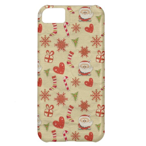 Santa candy cane hearts christmas iphone case iPhone 5C cover