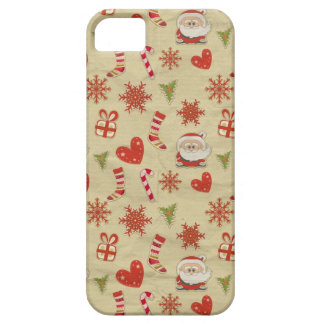 Santa candy cane hearts christmas iphone case iPhone 5 covers