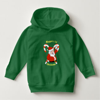 Santa & Candy Canes Christmas Toddler Hoodie