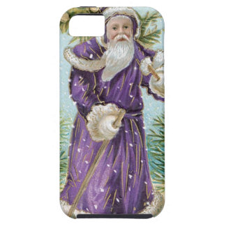 Santa carrying a Christmas Tree iPhone 5 Covers
