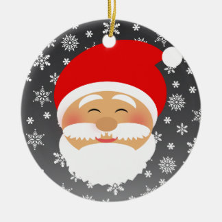 Santa Cartoon Beautiful Smile Cute Lovely for Kids Christmas Ornament