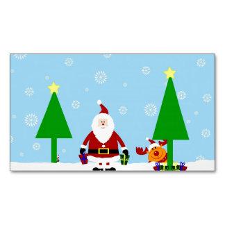 Santa Cartoon christmas card.jpg Magnetic Business Cards