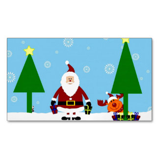 Santa Cartoon Christmas ~.jpg Magnetic Business Cards
