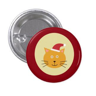 Santa Cat Button