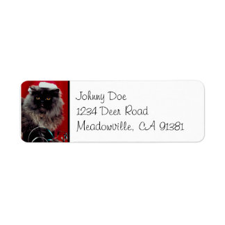Santa Cat Christmas Avery Label Return Address Label