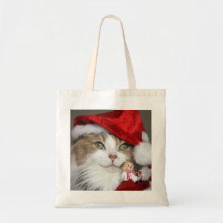 Santa cat - christmas cat - cute kittens tote bag