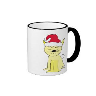 Santa Cat Christmas Mugs