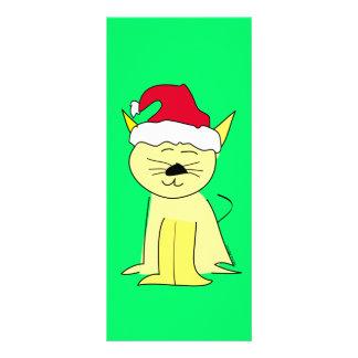 Santa Cat Christmas Rack Card