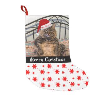 Santa Cat Christmas Stocking