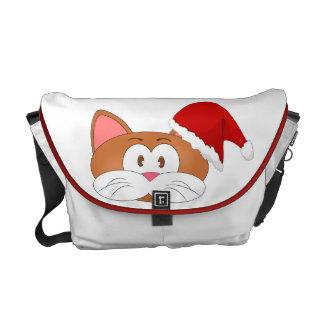 Santa Cat Courier Bag