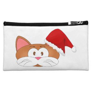 Santa Cat Makeup Bag
