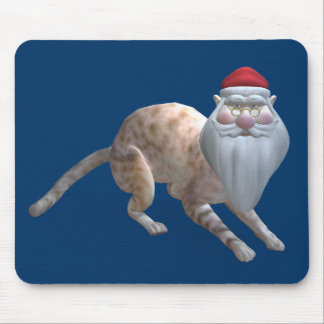 Santa Cat Mouse Pad