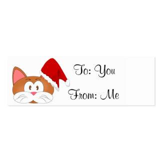 Santa Cat Pack Of Skinny Business Cards
