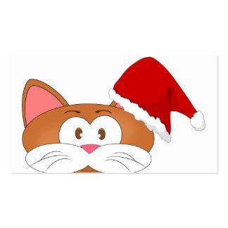 Santa Cat Pack Of Standard Business Cards