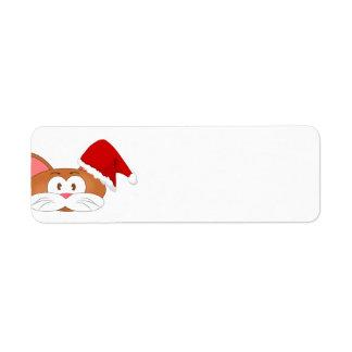Santa Cat Return Address Label