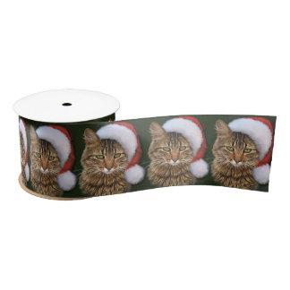 Santa Cat Satin Ribbon