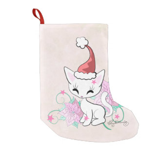 Santa Cat Small Christmas Stocking