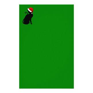 Santa Cat Stationery