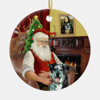 Santa -  Catahoula Leopard Dog Christmas Ornament