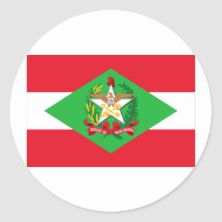 Santa Catarina, Brazil Flag Round Sticker