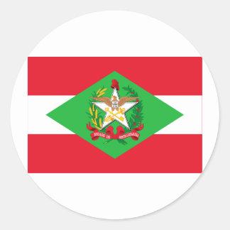 Santa Catarina Brazil Flag Round Stickers