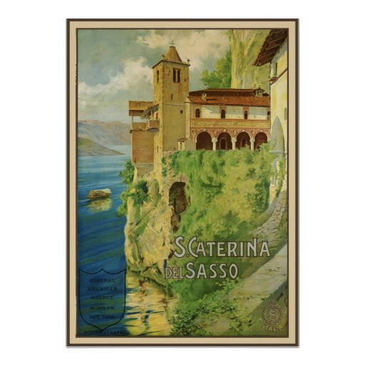 Santa Caterina del Sasso Poster