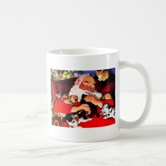 Santa Cats And Dogs Coffee Mugs