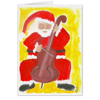 Santa Cello Christmas Card