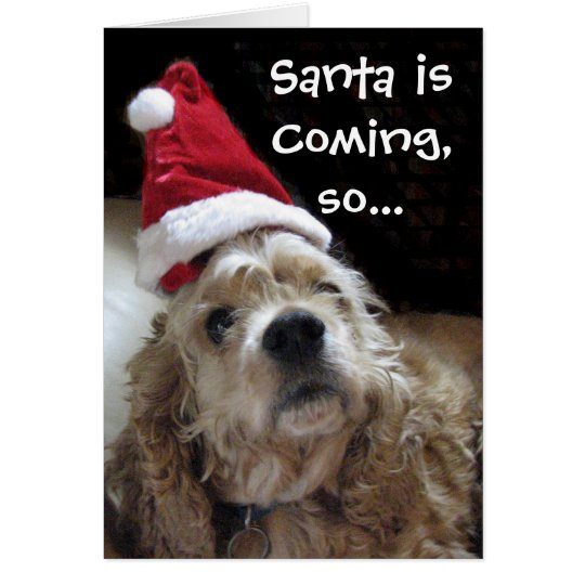 Santa Chance Dog Card