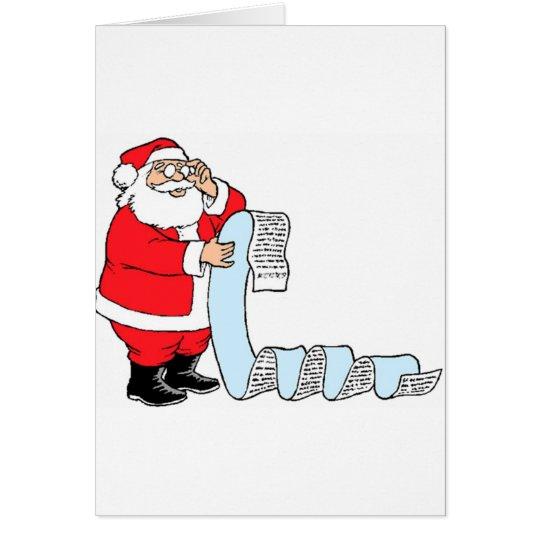 Santa Checking List Card