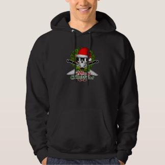 Santa Chef Skull Hooded Sweatshirts