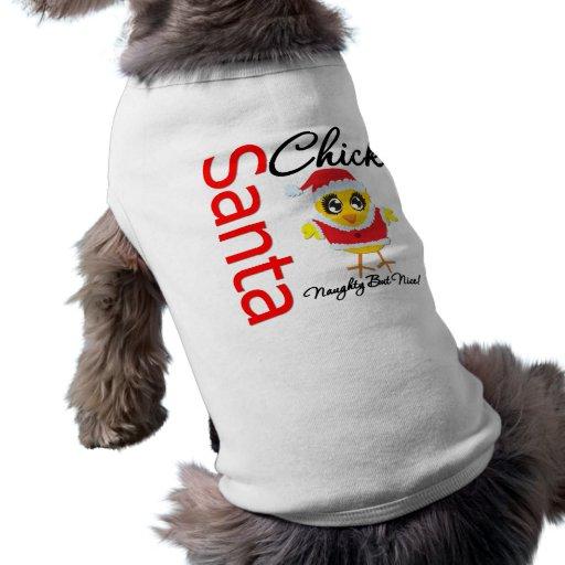 Santa Chick Naughty But Nice Doggie Tee Shirt