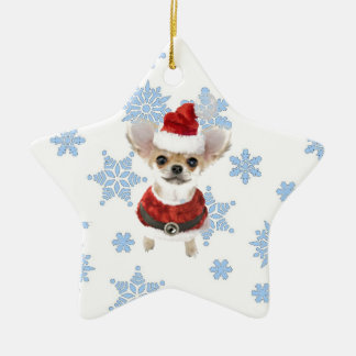 Santa Chihuahua Christmas Ornament