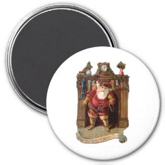 Santa Chimney 7.5 Cm Round Magnet