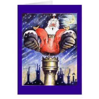 Santa Chimney Shock Greeting Card