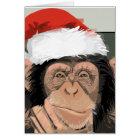 Santa Chimp Card