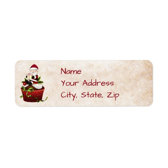 Santa Christmas Address Label