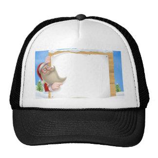 Santa Christmas Banner Mesh Hat