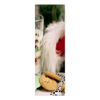 Santa Christmas Bookmark Pack Of Skinny Business Cards