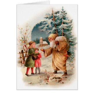 Santa Christmas Card - Old Fashion Santa