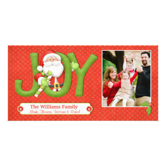Santa Christmas Card with Photo Customised Photo Card