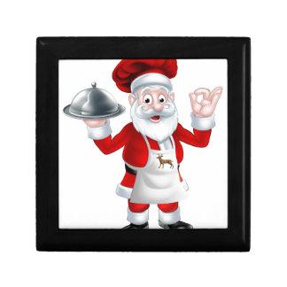 Santa Christmas Chef Small Square Gift Box