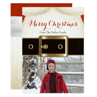 Santa Christmas, Fun Holiday Photo Card