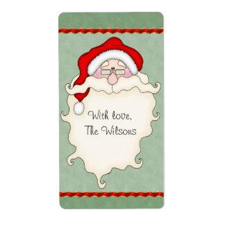 Santa Christmas Gift Tag Labels
