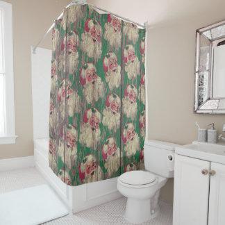 santa christmas holiday bathroom shower curtain