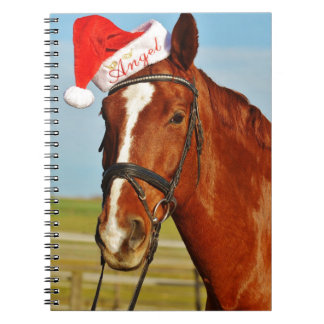 Santa Christmas Horse Notebook