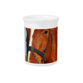Santa Christmas Horse Pitcher