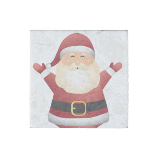 Santa Christmas Magnet- Kitchen Decoration or Gift Stone Magnet