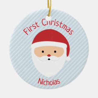 Santa Christmas Ornament - Pick Your Colour!